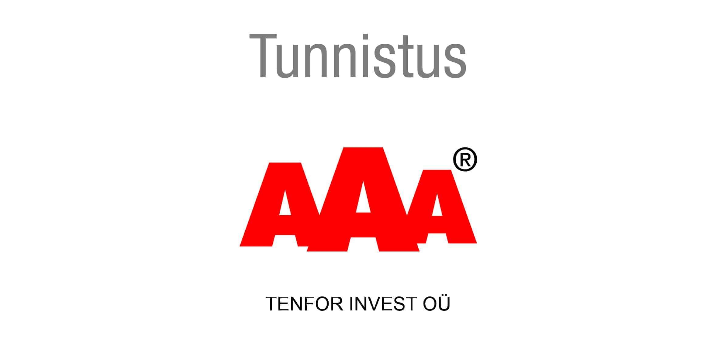 AAA tunustus - Tenfor Invest OÜ